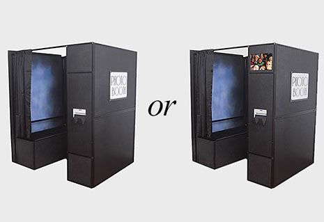 purchase a photo booth with or without a monitor